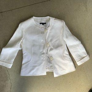 Lafayette 148 white 100% linen blazer